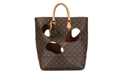 Eine Second-Hand-Louis-Vuitton-Tasche mit Löchern